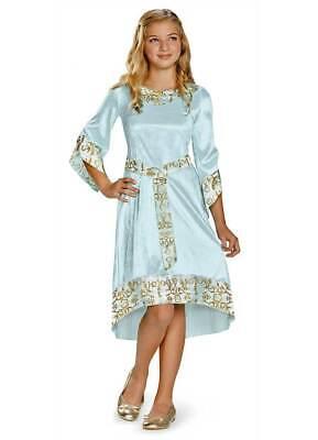 Disney Maleficent Aurora Blue Dress Classic Girls Costume Dress Princess M - Aurora Blue Dress Kostüm