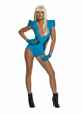 Halloween Musicians Costumes (Rubies 889959 musician Lady Gaga Halloween Costume Women Cosplay Blue)