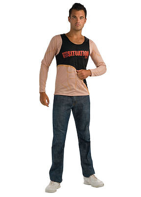 Jersey Shore The Situation Costume Tan Shirt XL Fits 44-46 Jacket Size New - Situation Kostüm