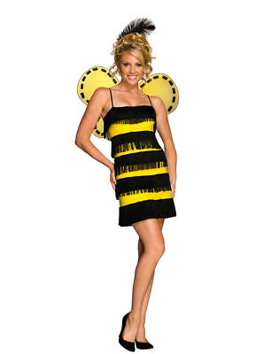 Adult Bee Mine Bumble Bee Flapper style Halloween Costume - Flapper Style Costumes