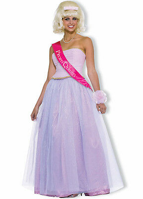 Prom Queen Gown 50's Style 4 Pc Pink Skirt Strapless Bodice Sash & Corsage Med  50s Prom Queen