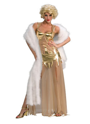Marilyn Monroe Halloween Costumes (Golden Starlet Women's Adult Marilyn Monroe Gold Dress Halloween Sexy)