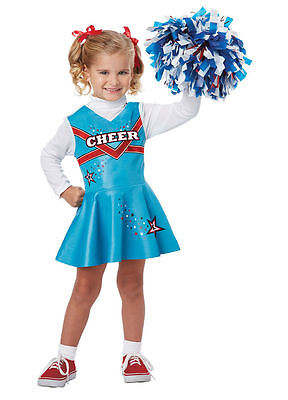 Toddler Cheerleader Costume (Cheerleader Costume for Toddlers by California Costume Blue size 3-4)
