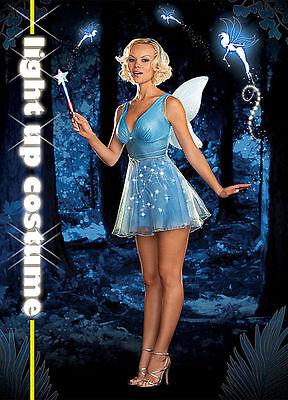 Womens Sexy True Blue Fairy Light up Adult Halloween Costume 5931 - True Blue Fairy Costume
