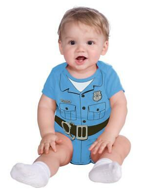 Baby Police Costume (INFANT NEWBORN POLICE OFFICER ONE PIECE COSTUME DRESS 0-6 MOS)