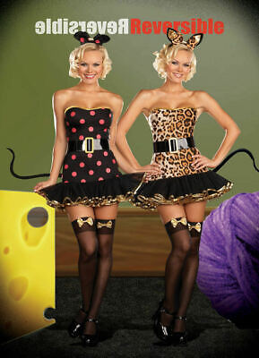 Dreamgirl USA 5976 Sexy 2 for 1 Cat/Mouse Reversible Adult Costume Last Medium - Mouse Halloween Costume For Adults