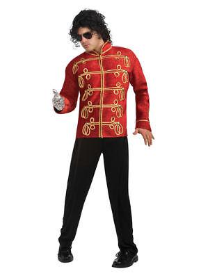 Adult Licensed Michael Jackson Military Jacket Red or Black Costume