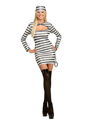 PRISONER OF LOVE SEXY PRISONER ADULT HALLOWEEN COSTUME WOMEN'S SIZE MEDIUM - Prisoner Of Love Costume Halloween