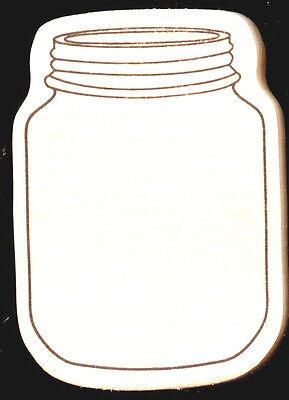 Rubber stamp Mason Jar XL approx 2.5 x 3.5 wood Fairy Fireflies Unicorn Wishes  - Wishing Fireflies