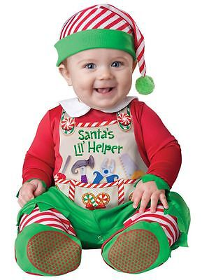 Baby Jungen Mädchen Santas Kleiner Helfer Weihnachtselfe Kostüm Kleid - Weihnachtself Baby Kostüm