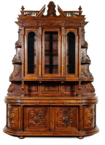 Antique Server, French Renaissance Revival Carved Walnut,1800s, Gorgeous!!