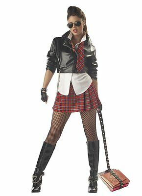 Sexy Naughty Rebel School Girl Adult Women Costume