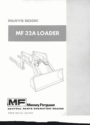 Massey Ferguson Mf32a Mf 32a Loader Parts Manual