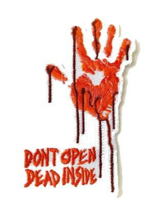 Bloody Dead Zombie Hand Don't Open Dead Inside Novelty Iron On Patch Applique (Bloody Unicorns)