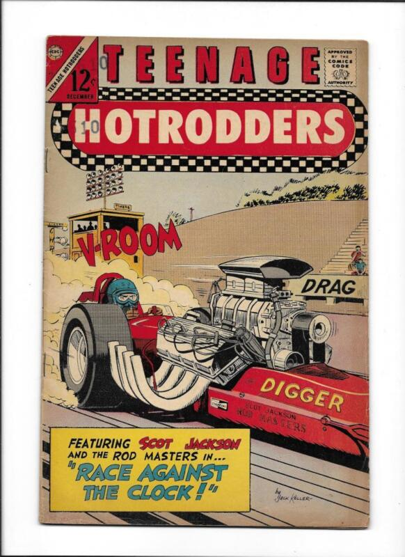 """TEENAGE HOTRODDERS #21  [1966 VG+]  """"RACE AGAINST THE CLOCK!"""""""