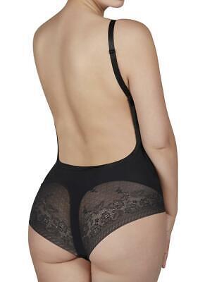 Body donna scollato schiena nuda, modellante,spalline sostituibili, con coppe C