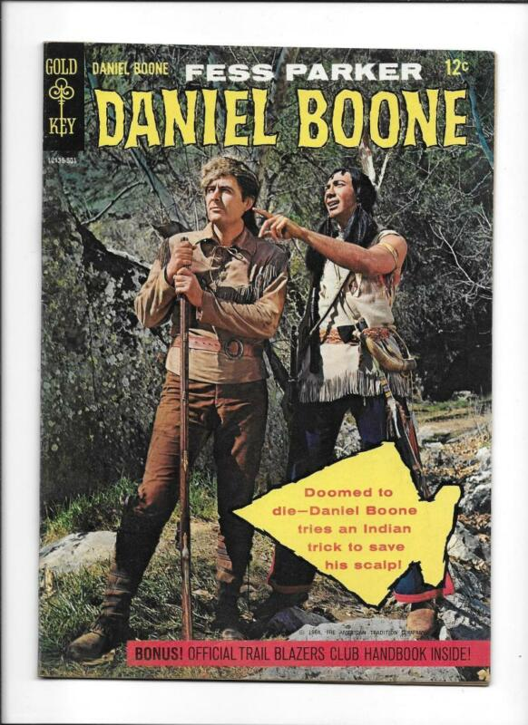 DANIEL BOONE #1 [1964 FN+] FESS PARKER PHOTO COVER!