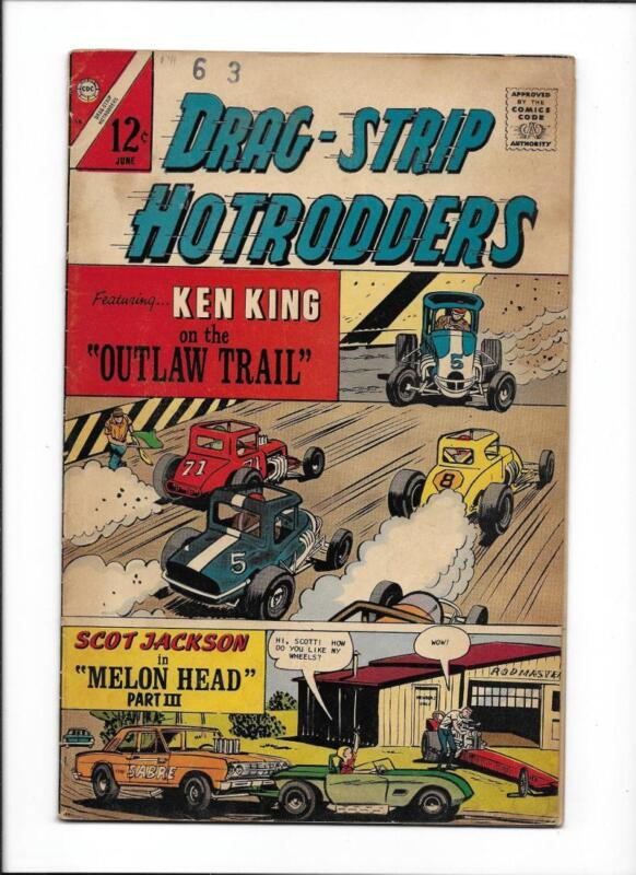"DRAG-STRIP HOTRODDERS #15 [1967 VG+] ""OUTLAW TRAIL"""