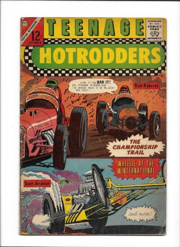 "TEENAGE HOTRODDERS #14  [1965 VG]  ""THE CHAMPIONSHIP TRAIL"""