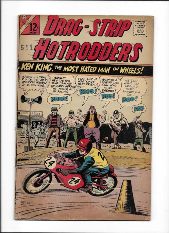 DRAG-STRIP HOTRODDERS #13 [1967 VG] MOTORCYCLE COVER!