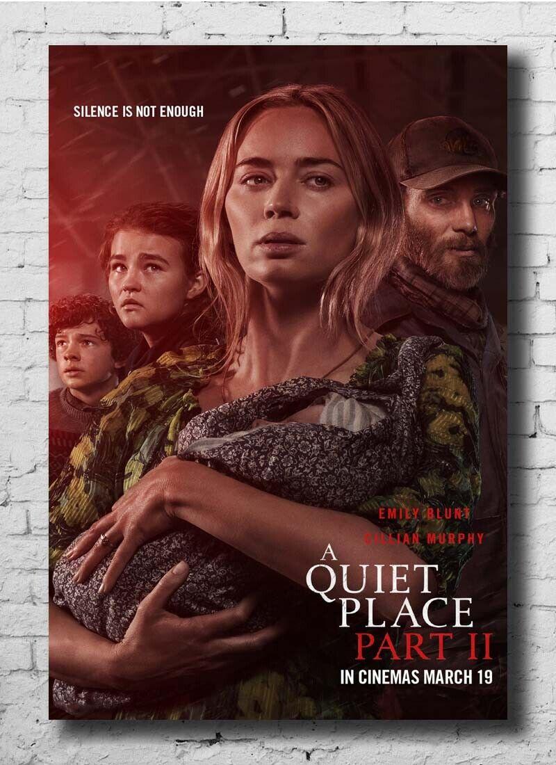 A Quiet Place Part II 2020 Movie Emily Blunt Horror 24x36 27