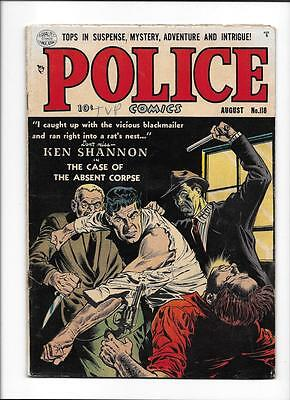 "POLICE COMICS #118 [1952 GD-VG] KEN SHANNON ""THE CASE OF THE ABSENT CORPSE&"