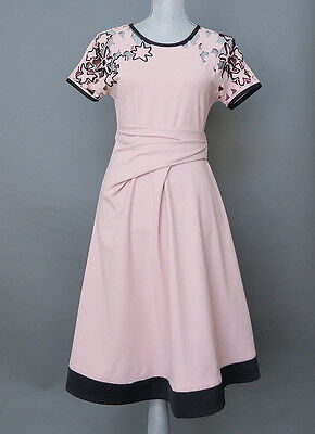 *Max Mara Blush Pink Cut out Floral Dress Size 6 MSRP $525