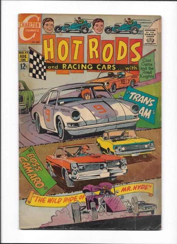 """HOT RODS & RACING CARS #97  [1969 VG]  """"TRANS AM""""  """"BOSS CAMA"""