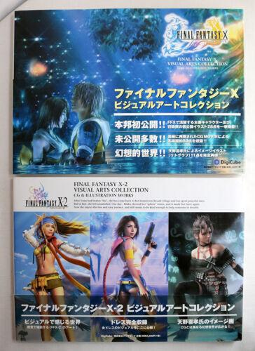 Final Fantasy X & X-2 Visual Arts Collection CG & Illustration Works Books Enix