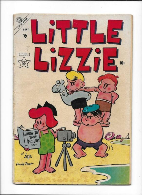 LITTLE LIZZIE #1 [1953 GD] SCARCE ATLAS!  BEACH COVER!
