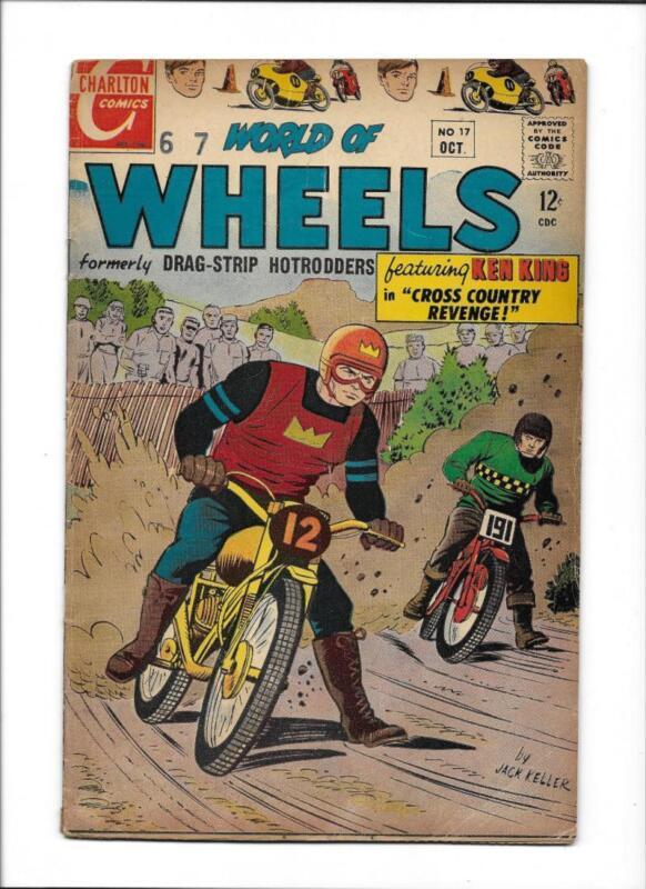 """WORLD OF WHEELS #17  [1967 VG+]  """"CROSS COUNTRY REVENGE!"""""""