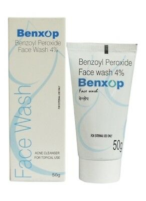 Benxop Benzoyl peroxide face wash 4% 50g Acne Cleanser For Topical Use
