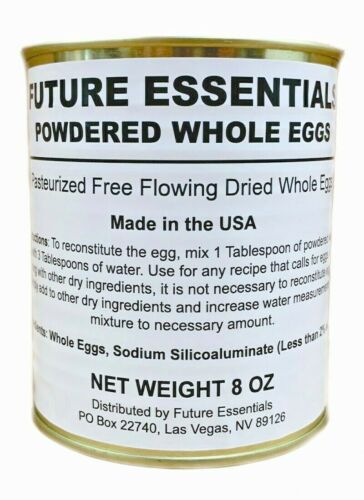 Canned Powdered Whole Eggs by Future Essentials,Long Shelf Life, Made in the USA