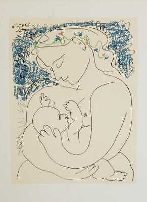 "Pablo Picasso, ""Maternity"" (Mother and Child) - Plate Signed/Dated Lithograph for sale  Sherman Oaks"