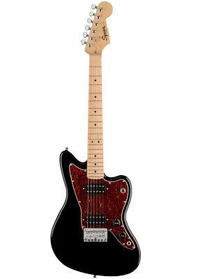 Fender Squier FSR Mini Jazzmaster MN TSPG BK Black Solid Body E-Gitarre