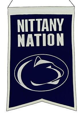 Penn State Nittany Lions Wool Nation Banner [NEW] NCAA Sign Wall Man Cave