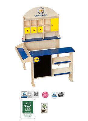 Kaufmannsladen Kinder Spielzeug aus Holz Spielladen Supermarkt Verkaufsstand
