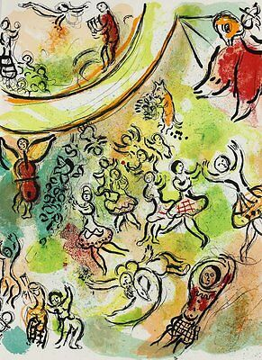 Marc Chagall (Russian/French 1887-1985) Lithograph The Ceiling of Paris Opera