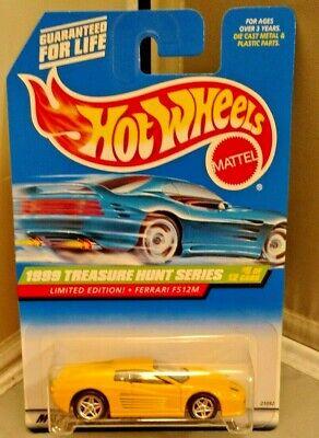 Hot Wheels Treasure Hunt -1998 - FERRARI F512M - # 5 OF 12 CARS - LTD EDITION