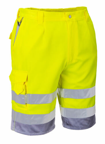 Portwest E043 HiVis Reflective Polycotton Stain Resistant Summer Shorts ANSI