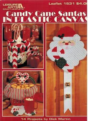 Candy Cane Santas Plastic Canvas PATTERN Tissue Cover Christmas Ornament Coaster Candy Cane Cover Ornaments
