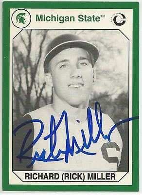 RICK MILLER Autographed Signed 1990 card MSU Michigan State Spartans COA