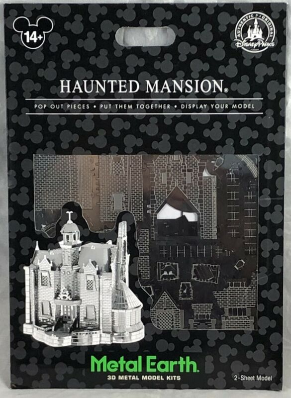 Disney Parks The Haunted Mansion Metal Earth 3D Model Kits - NEW