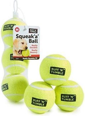 3 PACK SMALL TENNIS BALLS PUPPY DOG PLAY FETCH SHARPLES RUFF N TUMBLE