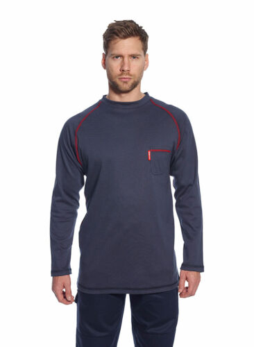 Mens FR01 & FR02 Flame Resistant Long Sleeved Crew & Button-Down Tops