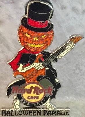 Hard Rock Cafe NEW YORK 2009 HALLOWEEN PARADE PIN Jack-o-Lantern Guitar - - York Halloween Parade