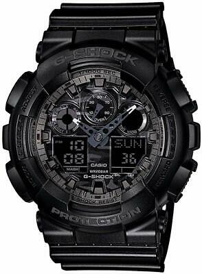 Casio G-SHOCK GA100CF-1A Camouflage Dial Black Analog-Digital 200m Men's Watch G-shock 200m World Time Watch