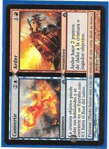 CONVERTIR-ARDER-FOIL-Dragon-039-s-Maze-Turn-Burn-Magic-Espanol-foil-MTG