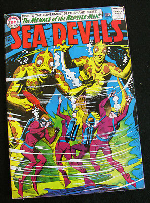 SEA DEVILS 20 (1964) SEA DEVILS VS REPTILE-MEN! LOTS OF LARGE PHOTOS! VF-