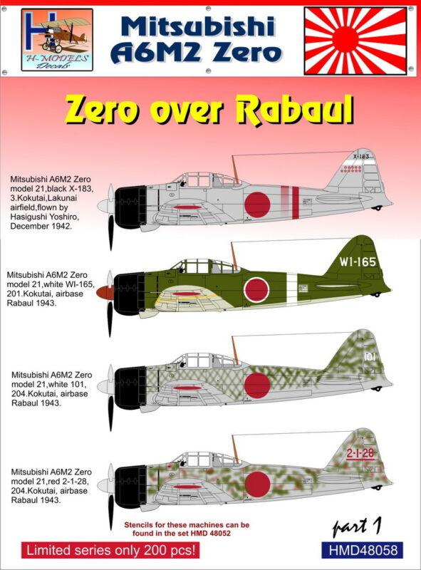 H-Model Decals 1/48 Mitsubishi A6M2